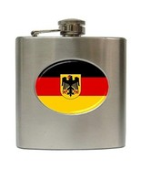 Germany Flag 6 Oz Hip Flask Stainless Steel German - $13.13