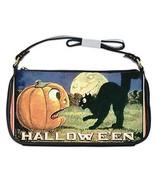 Halloween Black Cat Pumpkin Full Moon Shoulder Clutch Bag - $16.87