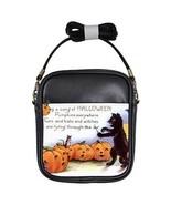 Halloween Black Cat Pumpkin Choir Girls Sling Bag - $14.07