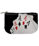 Four of a Kind Aces Poker Cards Casino Womens Coin Bag Purse - $4.72
