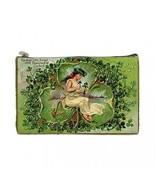 St Patricks Day Fairy 3 Leaf Clover 2 Sided Cosmetic Bag Medium Size - $8.46