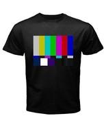 TV Television Color Bars Black Mens T-Shirt S,M,L,XL,2XL,3XL - $14.07
