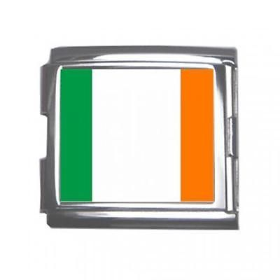 Ireland Irish Flag 18mm Mega Link Italian Charm