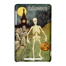 Halloween Skeleton Graveyard Pumpkin Hardshell Case for Google Nexus 7 - $14.07