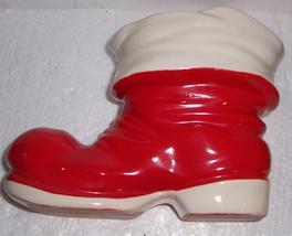 Vintage Lefton Santa's Extra Large Christmas Display Cobbler Boot - $39.91