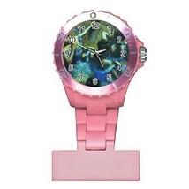 Edgar Degas The Blue Dancers Round Womans Pink Nurse Watch - $9.39