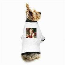 Christmas Santa Claus Dolls Tree White Puppy Dog T-Shirt - $11.26