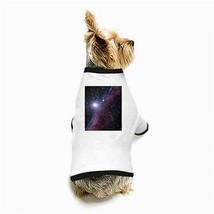Block Big Nebula Galaxy Universe Outer Space White Puppy Dog T-Shirt - $11.26