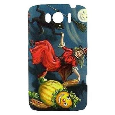 Primary image for Halloween Witch Black Cat Scarecrow Moon Hardshell Case for HTC Sensation XL