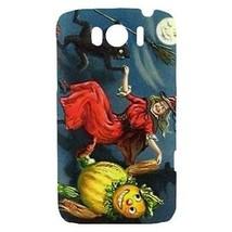 Halloween Witch Black Cat Scarecrow Moon Hardshell Case for HTC Sensatio... - $14.07