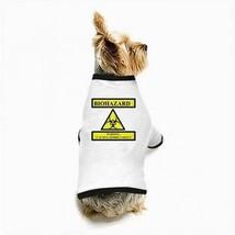 Zombie Bio-Hazard Warning White Puppy Dog T-Shirt - $11.26