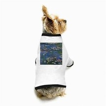 Claude Monet Water Lilies White Puppy Dog T-Shirt - $11.26
