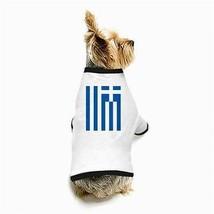 Greece Greek Flag White Puppy Dog T-Shirt - $11.26