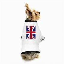 United Kingdom British Flag White Puppy Dog T-Shirt - $11.26