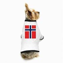 Norway Norwegian Flag White Puppy Dog T-Shirt - $11.26