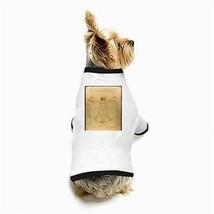 Leonardo Da Vinci Vitruvian Man White Puppy Dog T-Shirt - $11.26