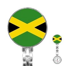 Jamaica Jamaican Flag Womans Stainless Steel Nurse Watch - $11.26