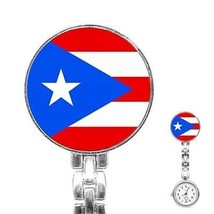 Puerto Rico Puerto Rican Flag Womans Stainless Steel Nurse Watch - $11.26