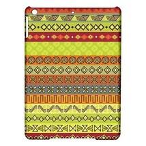 Ethnic Strips Orange Green Yellow Tribal Pattern Hardshell Case for ipad Air - $18.74