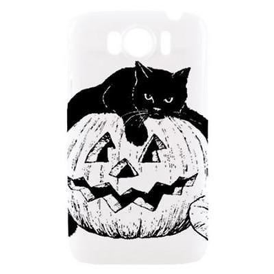Hallowen Black Cat Jack O Lantern Pumpkin Hardshell Case for HTC Sensation XL