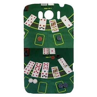 Blackjack Table Casino Poker Cards Hardshell Case for HTC Sensation XL