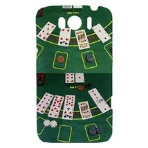 Blackjack Table Casino Poker Cards Hardshell Case for HTC Sensation XL - $14.07