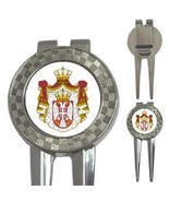 Serbia Serbian Coat of Arms 3-in-1 Golf Divot - $8.46