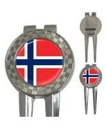 Norway Norwegian Flag 3-in-1 Golf Divot - $8.46