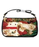 Santa Claus Christmas Toys Dolls Tree Shoulder Clutch Bag - $16.87
