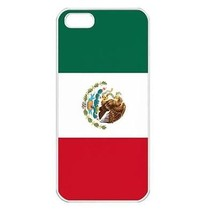 Mexico Mexican Flag Seamless White Case for iphone 5S - $14.07