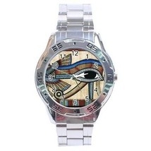 Egypt Eye of Horus Stainless Steel Analogue Watch Ancient Egyptian - $9.39