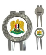 Syria Syrian Coat of Arms 3-in-1 Golf Divot - $8.46