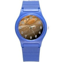 Planet Jupiter Outer Space Round Plastic Blue Sport Watch - $8.46