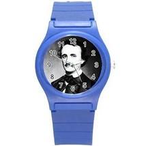 Edgar Allan Poe Round Plastic Blue Sport Watch - $8.46