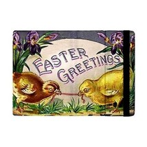 Easter Greetings Chicks Egg Worm Flowers Flip Case for ipad Mini 2 - $16.87