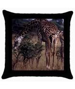 Giraffe Family Throw Pillow Case - $14.07