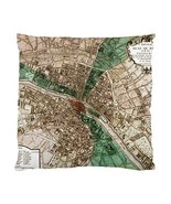 Vintage Paris Map Two-Sided Cushion Pillow Case - $14.07