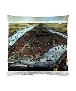 Vintage New York Map Two-Sided Cushion Pillow Case - $14.07