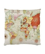 Ancient German World Map Two-Sided Cushion Pillow Case - $14.07