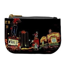 Vintage Downtown Las Vegas Fremont Street at Night Coin Bag Purse - $4.72