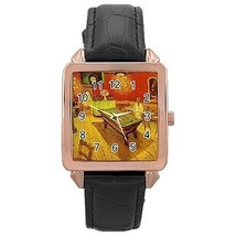 Van Gogh Night Cafe Rose Gold Leather Watch - $11.26