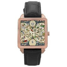 Celestial Map Star Chart Astrology Rose Gold Leather Watch - $11.26