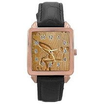 Akhenaten Ancient Egyptian God Rose Gold Leather Watch - $11.26