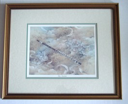 Set of 2 Framed Lena Liu Violin Concerto & Piano Sonata Prints  - $60.00