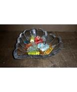Set Lot of  Art Glass Candy Ornament Candies decorative & heart Dish Bowl - $18.00