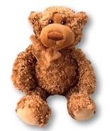"""Gund #15031 Higgins Teddy Bear 10"""" Plush Toy with Honey Brown Curly Fur - $7.90"""