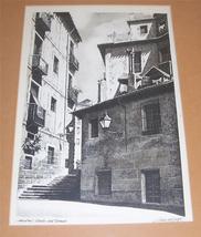 "Vintage Signed J. Souza del Royo ""Madrid calle ... - $674.55"