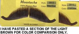 EUROPEAN HUMAN HAIR MEDIUM BROWN MUSTACHE - $8.50