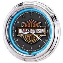 Harley Davidson Clock Essential Bar Neon Man Cave Motorcycle Bike Gift C... - £65.56 GBP