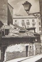 "Vintage Signed J. Souza del Royo ""Madrid calle del grourado"" Spain art p... - $674.55"